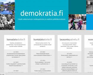 demokratia.fi-palvelun etusivu