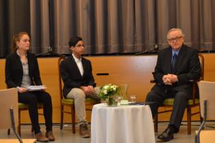 Keskustelutuokio presidentti Martti Ahtisaaren kanssa